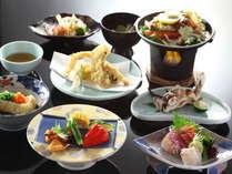 信州の季節の素材とちょこっと海の幸も味わえる会席料理一例