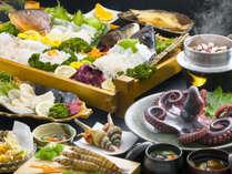 【夕食[一例]】網元だからできるこのボリューム!獲れたて新鮮な海鮮をお愉しみください!