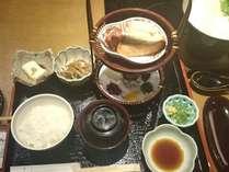 朝食(イメージ)白ご飯かお茶粥かお選び頂けます。