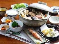 【二食付きプラン】産地直送!日本海の幸≪海鮮鍋≫と田舎の手料理☆野菜畑に囲まれた宿で田舎体験