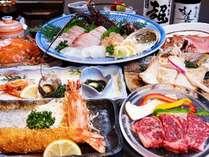 海の幸を中心に知多牛や卵など知多半島の食材を使った料理を満喫。