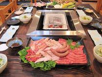 【特選☆七輪炭火焼き】食材の質も品数もUP!贅沢お肉をじっくりジューと焼き上げよう