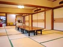 30畳の広々とした大広間 朝食・夕食はこちらでご用意します