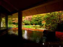 ■【温泉】檜造り露天風呂-季-古代檜を使用した優しい雰囲気の露天風呂