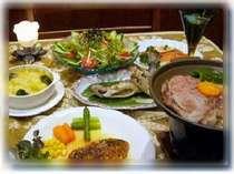 [写真]裏磐梯リゾートペンション藍のディナー