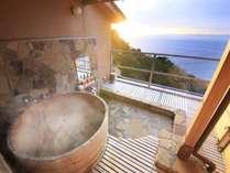 駿河湾を望む貸切露天風呂