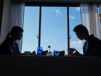 【レストラン】大切な人とのお食事は景色も大事!的矢湾の絶景をお愉しみください♪(写真はイメージです)