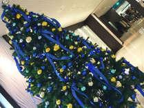 【ロビー】大きなクリスマスツリーがお出迎え♪記念写真にもぴったりです!