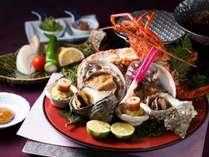 【和食会席イメージ】伊勢海老・あわび・さざえを鍋、焼きで贅沢に食べ比べ~美し国三種の神味食べ尽くし~