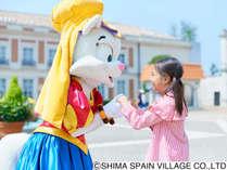 【志摩スペイン村イメージ】志摩スペイン村の園内ではかわいくて愉快なキャラクター達とも会えるかも!?