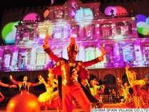 【志摩スペイン村】ナイトパレードももちろんお客様参加型!一緒に踊って夜も満喫♪(画像はイメージです)
