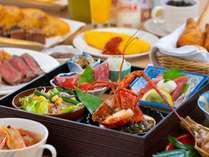 【朝食】ご朝食はホテル自慢の「ごっつぉ朝ご飯」!朝からお腹いっぱいお楽しみください♪
