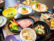 *【夕食全体例】地物の食材を使った、郷土料理をご用意致します。