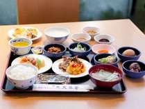 【文殊亭】地元テレビでも取り上げられた、人気の朝食バイキング(例)