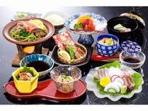 長門の浜会席プラン山口県名物瓦そばと地元で獲れた魚料理をご堪能下さい。