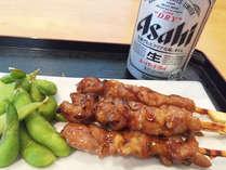 ちょい飲みプラン♪枝豆と焼き鳥とビール,愛媛県,ホテルトレンド西条