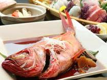 【 伊豆名産を食す 】◇ 金目鯛姿煮付 旬彩コースプラン ◇ ※ 旬地魚舟盛付 ※