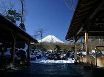 施設近隣の「紅富士の湯」から富士景色!