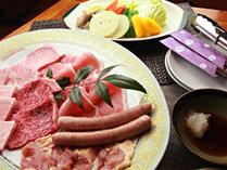 【グレードアップ】奥久慈しゃも・常陸牛・美明豚の3種の食べ比べができちゃいます♪