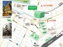 2017年11月9日オープンの静岡スクエア周辺マップ