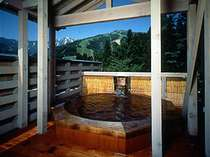 最上階にある展望露天風呂