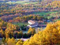 紅葉に囲まれ、10月20日~11月4日まで期間限定・紅葉リフト運行!雄大な山々と黄金色に染まる景色を!