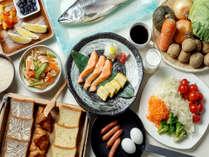 朝のお目覚め後は和食洋食のスタイルで・・・