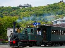 松山城と、坊ちゃん列車です♪