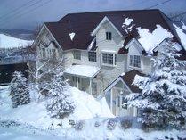 冬の白樺湖は、とてつもなく寒いです。^^;)。雪遊びは楽しいな!