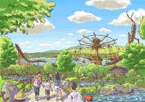 2018年度、新たに新アトラクション登場により、園内のレイアウトもより快適に!