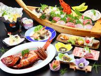 金目鯛と豪華舟盛(4名様から)がついた【磯料理プラン】*