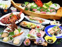 舟盛、キンメ、イセエビが付いた最高に魚介を堪能できる【満腹プラン】!*
