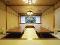 掘りごたつ式個室会場『千秋の間』  *5名様~10名様まででご予約の場合のお食事場所一例