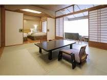 花見亭8畳間+ツインベッド+広縁(禁煙)