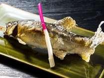 【夏】夕食:鮎塩焼き