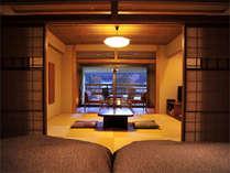 *【Bタイプ】〔8畳+ベッドルーム+広縁+半露天風呂〕