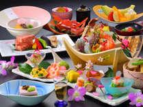 *夕食一例/目で見て愉しく味わい豊かな料理をごゆっくりご堪能ください