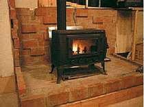 暖炉でホッと一息