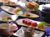 丹後の新鮮な海の幸に絶品京都丹波牛のステーキ付♪(地魚は季節におまかせ)
