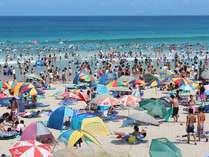 夏の海水浴は綺麗な白浜で…ご予約はお早めに♪