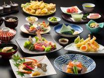 【2018春・北川海幸三昧/一例】金目鯛や旬の地魚を愉しむ、つるや王道の和懐石。天ぷらは食べ放題!