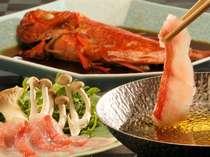 【伊豆金目鯛】しゃぶしゃぶ、金目鯛姿煮、2つの味わいでどうぞ
