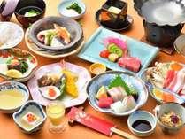 【ご夕食一例】料理長が厳選した食材で作る会席料理「ゆの香膳」