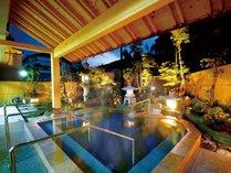 三陽荘自慢の庭園露天風呂
