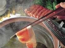 【みんなで鍋】しゃぶしゃぶ鍋と吉萬自慢大盃皿鉢