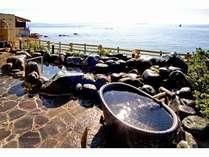大浴場 露天風呂 夕日から夜は舟の漁火見えます!
