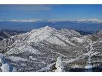 横手山から見た笠岳冬景色