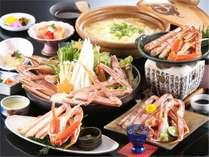 お鍋を囲んでかにすきプラン♪☆2種類の貸切温泉も無料で☆【夕食・朝食ともお部屋食で】
