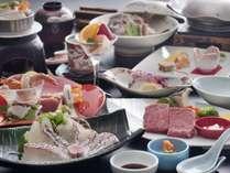・瀬戸内鯛料理と伊予牛1品付会席Ψ