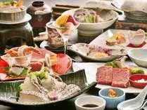 3湯巡り 料理イメージ 瀬戸内鯛の郷土料理と伊予牛の1品付Ψ